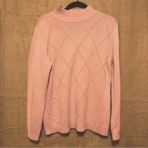 Liz Claiborne Pink Preppy Sweater SZ L